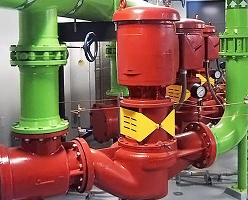 FAWAZ Patterson Split Coupled Vertical In Line HVAC Pump Kuwait